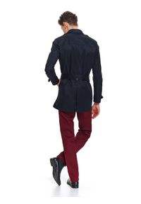 Niebieski płaszcz TOP SECRET w kolorowe wzory, na wiosnę #8