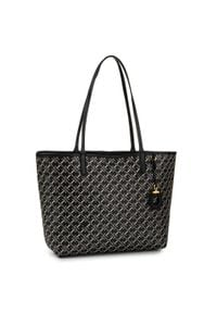 Czarna torebka klasyczna Lauren Ralph Lauren skórzana, klasyczna