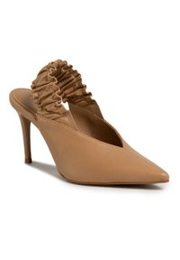 Brązowe sandały Eva Minge eleganckie