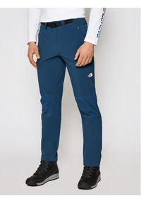 Niebieskie spodnie sportowe The North Face outdoorowe