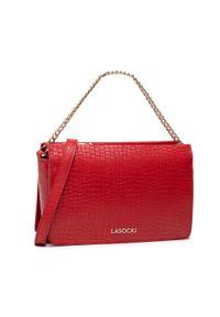 Lasocki - Torebka LASOCKI - LIB-1009 Red. Kolor: czerwony. Materiał: skórzane