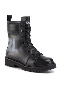 Czarne buty trekkingowe Karl Lagerfeld