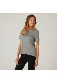 NYAMBA - Koszulka z krótkim rękawem damska Nyamba Gym & Pilates. Materiał: lyocell, bawełna, materiał, elastan, poliester. Długość rękawa: krótki rękaw. Długość: krótkie. Wzór: ze splotem, nadruk. Sport: joga i pilates