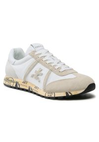 Premiata - Sneakersy PREMIATA - Lucy 5153 Biały. Okazja: na co dzień. Kolor: biały. Materiał: zamsz, materiał, skóra. Szerokość cholewki: normalna. Styl: casual, klasyczny, sportowy