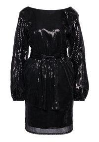Ermanno Firenze Sukienka koktajlowa AB26PAI Czarny Regular Fit. Kolor: czarny. Styl: wizytowy
