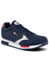 Tommy Jeans Sneakersy Retro Runner Mix EM0EM00699 Granatowy. Kolor: niebieski. Styl: retro