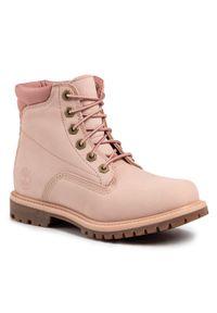 Różowe buty trekkingowe Timberland