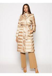 Beżowa kurtka puchowa Marella na zimę