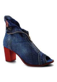 Artiker - Botki ARTIKER 40C289 Jeans. Materiał: jeans