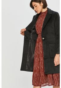 Czarny płaszcz Answear Lab bez kaptura, wakacyjny, na co dzień