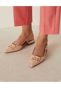 Marella - MARELLA - Skórzane sandały Bocca. Zapięcie: pasek. Kolor: wielokolorowy, fioletowy, różowy. Materiał: skóra. Wzór: aplikacja. Styl: elegancki