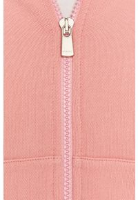 Różowa bluza rozpinana Pinko casualowa, z nadrukiem, z kapturem, na co dzień
