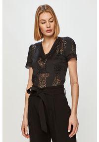 Czarna bluzka Morgan casualowa, gładkie
