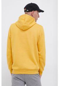 Puma - Bluza. Kolor: żółty. Materiał: materiał. Wzór: nadruk