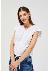 Koszula MOODO bez rękawów, w ażurowe wzory