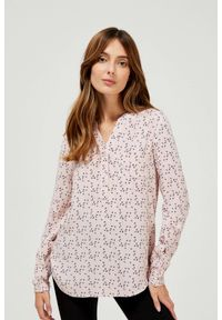 MOODO - Koszula z wiskozy w drobny wzór. Materiał: wiskoza