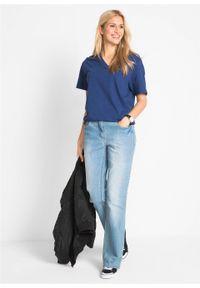 Długi shirt z dekoltem w szpic (5 sztuk), krótki rękaw bonprix jasna limonka + zielony szałwiowy + kobaltowy + jasnoszary melanż + czarny. Kolor: żółty. Długość rękawa: krótki rękaw. Długość: krótkie. Wzór: melanż #2