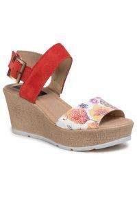 Czerwone sandały Sergio Bardi casualowe, na co dzień