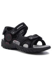 Czarne sandały Dockers na lato, klasyczne