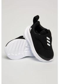 Czarne buty sportowe adidas Performance do biegania, na rzepy