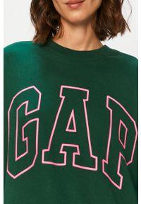 Zielona bluza GAP bez kaptura, z nadrukiem