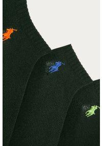 Czarne skarpetki Polo Ralph Lauren z aplikacjami