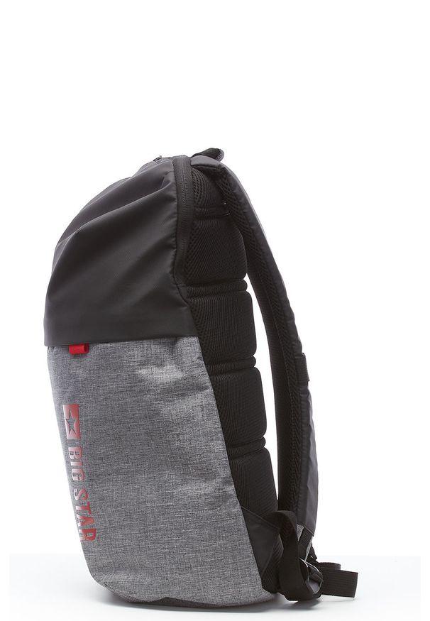 Szary plecak Big Star Accessories z nadrukiem