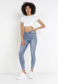 Born2be - Niebieskie Jeansy Skinny Nethypso. Kolor: niebieski #2