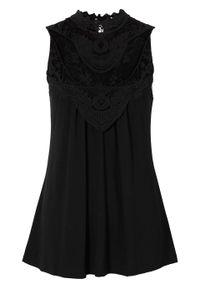 Czarny top bonprix elegancki, ze stójką