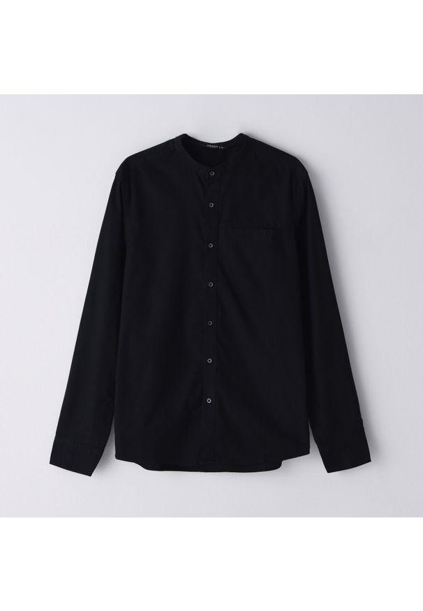 Czarna koszula Cropp ze stójką