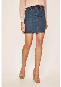 Niebieska spódnica Vero Moda na co dzień, casualowa