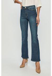 Niebieskie jeansy bootcut only z podwyższonym stanem