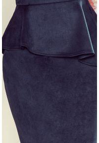 Sukienka koktajlowa Numoco baskinka, z krótkim rękawem, midi