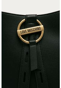 Czarna listonoszka Love Moschino duża, na ramię