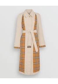 Burberry - BURBERRY - Trencz Vintage Check. Kolor: brązowy. Materiał: materiał. Styl: vintage