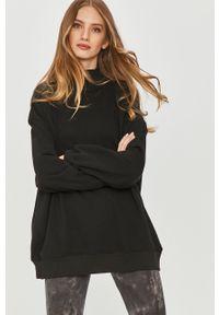 Czarna bluza Answear Lab długa, bez kaptura