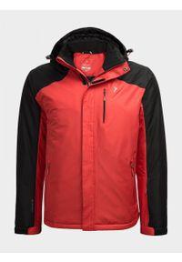 Czerwona kurtka narciarska outhorn