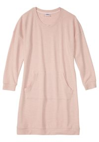 Koszula nocna z miękkiego materiału bonprix stary jasnoróżowy melanż