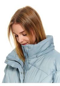 TOP SECRET - Kurtka z ociepliną puchową. Kolor: niebieski. Materiał: puch. Długość: krótkie. Sezon: zima, jesień. Styl: elegancki