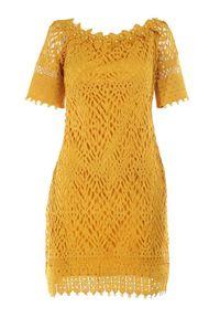 Born2be - Żółta Sukienka Philelaus. Kolor: żółty