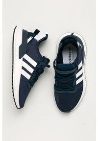 Niebieskie buty sportowe adidas Originals na sznurówki, z cholewką