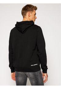 Karl Lagerfeld - KARL LAGERFELD Bluza Sweat Hoody 705010 502910 Czarny Regular Fit. Typ kołnierza: dekolt w karo. Kolor: czarny