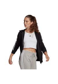 Adidas - Bluza damska adidas Essentials 3-Stripes Hoodie GL0792. Typ kołnierza: kaptur. Materiał: materiał, wiskoza, bawełna, poliester. Sport: fitness
