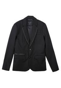 TOP SECRET - Marynarkami z zamkami. Okazja: na co dzień. Kolor: czarny. Materiał: tkanina, jeans. Sezon: jesień, zima. Styl: klasyczny, elegancki, casual #8