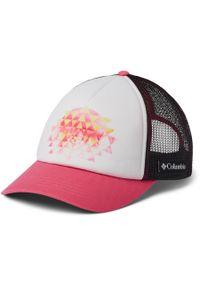 Biała czapka columbia