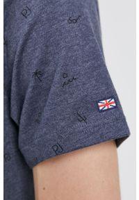 Pepe Jeans - T-shirt LYNCH. Okazja: na co dzień. Kolor: niebieski. Materiał: dzianina. Styl: casual