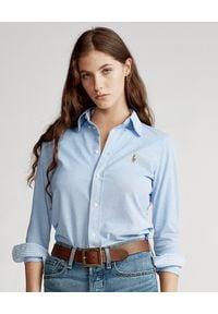 Ralph Lauren - RALPH LAUREN - Koszula Oxford. Typ kołnierza: polo. Kolor: niebieski. Materiał: materiał, bawełna. Długość rękawa: długi rękaw. Długość: długie. Wzór: haft, kolorowy, aplikacja. Styl: klasyczny