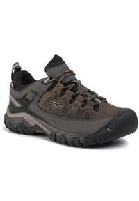 keen - Trekkingi KEEN - Targhee III Wp 1017783 Bungee Cord/Black. Kolor: czarny. Materiał: skóra, nubuk, materiał. Sport: turystyka piesza