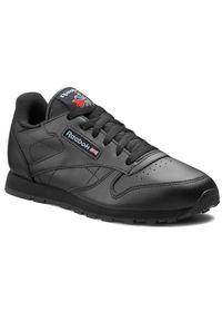 Czarne buty sportowe Reebok na płaskiej podeszwie, Reebok Classic, z cholewką