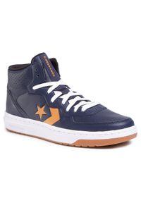 Niebieskie buty sportowe Converse na co dzień, z cholewką